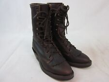Vintage Boulet Brown Boots Lace Up Leather Mens Shoes Size 7C