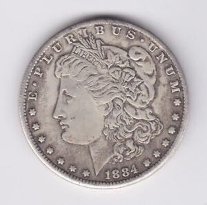 UNITED STATES AMERICA 1884 MORGAN SILVER DOLLAR $1 GOOD CONDITION EXAMPLE 4