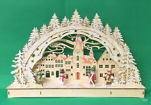 LED Illuminated Arch Winterdorf 17 1/2x11x3in With LED And Glitter Snow 61637