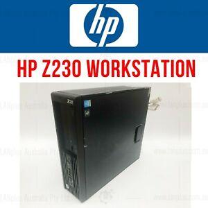 HP Z230 SFF WORKSTATION Xeon E3-1230 v3 3.3GHz 4GB 500GB DVDRW  WIN 7 PRO