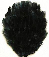 ONE DYED PHEASANT FEATHER PAD - MIDNIGHT BLACK; Headband/Hats/Art/Bridal/Costume
