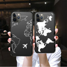Silicone World Map Case For Apple iPhone 11 Pro XS Max XR 8 7 6s Plus Soft Cover