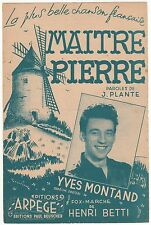 PARTITION ANCIENNE MAITRE PIERRE  YVES MONTAND  MOULIN