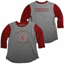 the best attitude f9736 24fc2 NCAA Washington State Cougars Women s Tri-Blend Baseball Tee Shirt, Small,  He.