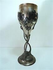 Coupe art nouveau métal argenté Jugendstil ALSACE LORRAINE NANCY 1900 Sport