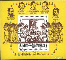 Guinée-bissau Bloc 250 oblitéré 1983 échecs