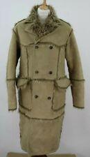 ZARA Faux Suede Beige Coat size L