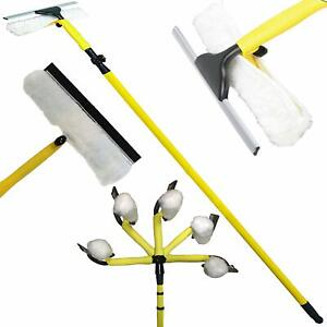 3.5M Telescopic Conservatory Window Cleaner Extendable Heavy Duty Adjustable Kit