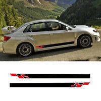 OEM Subaru 05-07 Impreza WRX STi Side Door Decals Stickers Set Pair Genuine JDM