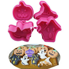4pcs/set Halloween series cookie cutters Spring press mould cake decoration-