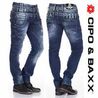 CIPO & BAXX Herren Jeans C-1180 NEU Hose Straight Cut Regular Gerades Bein Denim