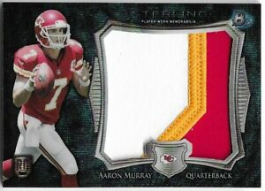 2014 Bowman Sterling Blue Wave Refractor AARON MURRAY Jumbo Rookie Patch Relic