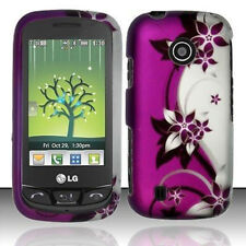 Purple Vines HARD Protector Case Phone Cover for MetroPCS LG Beacon MN270