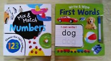 Mix Match Board Books Numbers, &  First Words by Lake Press Hardcover Books