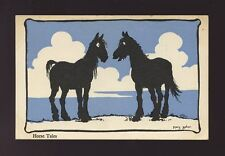 Mary Baker artist  Animals HORSE Tales 1943 PPC pub by Medici Society