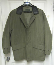 DOCKERS - GREEN DRAB LINED WINTER JACKET - LARGE