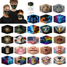 US 3d Print Mouth Mask Breathable Washable Reusable Black Cotton Face Mask