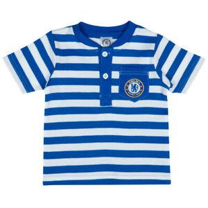 Chelsea Baby Top  9-12 Months T- Shirt Blue/white Stripes Cotton Chelsea FC