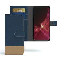 Tasche für Samsung Galaxy S9 Jeans Cover Handy Schutz Hülle Case Dunkelblau