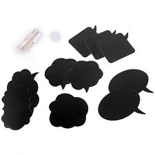 10Pcs Photo Booth Prop Wedding Birthday Party Black Card Board Chalkboard Stick