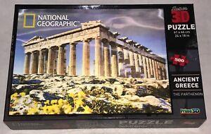 "National Geographic ""Super3D"" Puzzle Ancient Greece The Parthenon 500pc COMPLETE"