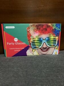 20 Pack LED Glasses,Light Up Glasses Glow In The Dark Multicolored.
