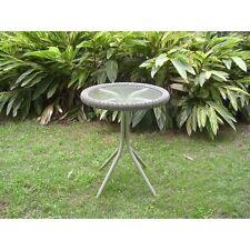 International Caravan Outdoor Resin Wicker and Glass-top Bistro Table, Moss