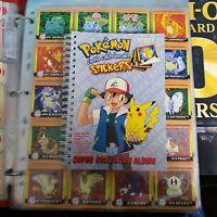 30pk New Rare Pokemon Stickers Series 1 Original 1999 Full Retail Display Box