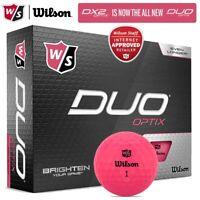 Wilson Staff DUO Optix Matte Pink Golf Balls Dozen Pack *MULTI-BUY* - NEW! 2020