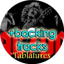 AC/DC BASS & GUITAR TAB + BACKING TRACKS CD BEST OF GREATEST ROCK HITS TABLATURE