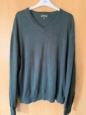 Orvis Cashmere - Silk Blend Pull Over Jumper - Forest Green - L Excellent Con