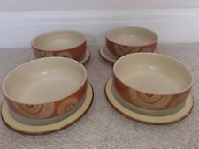 More details for denby fire chilli swirls -  cereal / dessert bowls and side plates