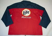 RUSTY WALLACE 2 NASCAR Miller Lite Racing Chase Authentics Jacket Size L LARGE