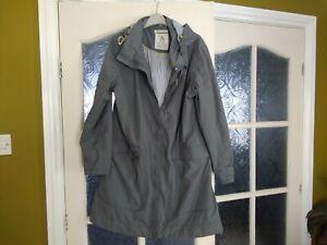 Seasalt - Breathable Waterproof grey  Coat - Size 14 Kellifray Mac