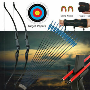 57in Takedown Recurve Bow Kit Hunting &12x Arrows Set Archery Right Left Hand AU