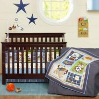 7 Pcs Infant Baby Bedding Crib Cot Set Nursery Quilt Bumper Sheet Blanket