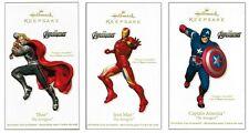 2012 Hallmark Marvel's Avengers Thor Iron Man Captain America Ornament Set!