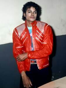 Michael Jackson Beat It Song Leather Jacket Vintage Party Outfit Red Leather Jac
