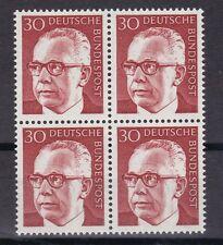 BRD 1970 postfrisch  4er Block  Gustav Heinemann  MiNr.  638