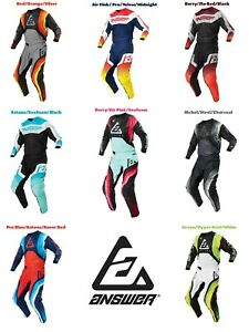 2021 Answer Racing Dirt Bike Gear Syncron Motocross Pants Jersey MX Off Road Atv