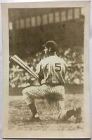 Joe Dimaggio 5 NY Baseball Kneeling Field Postcard Real RPPC Yankees
