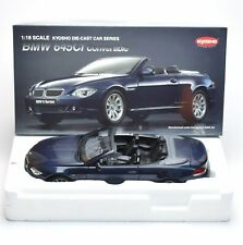 Kyosho 08702 BMW 645Ci Convertible Cabriolet Farbe / Navy Blue, 1:18, OVP, B317