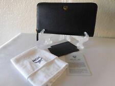 New MCM Milla Large Zip-Around Leather Wallet, Clutch