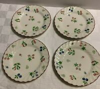 Set Of 4 JOHNSON BROTHERS ENGLAND SWEETBRIAR BREAD & BUTTER PLATES EUC