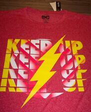 """THE FLASH """"KEEP UP"""" Dc Comics T-Shirt Jersey 3XLB BIG AND TALL 3XL NEW w/ TAg"""