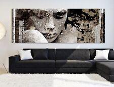 XXL-PANORAMA-LEINWAND 190x75x5 BILD MODERN-ART GEMÄLDE BRAUN BEIGE WANDBILD IKEA