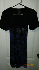 Youth Girls Size 14 Speechless Black Blue Gold Floral Dress
