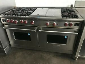 """Wolf 60"""" Pro-Style Gas range 6 burnersw/ charbroiler & griddle"""
