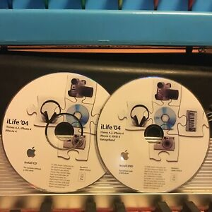 Apple Mac  iLife '04 Install DVD + CD, iTunes 4.2, iPhoto 4, iMovie 4, iDVD4, GB