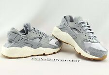 Women's Nike Air Huarache Run PRM - SIZE 6 -NEW- 683818-012 Wolf Grey Sail White
